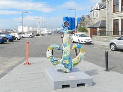 """Grace"" Anchor, Friends of Anchor, Footdee, Aberdeen, July 2017 (allanmaciver) Tags: 1838 forfarshire grace darling ffotdee shelagh swanson artist granite silver city aberdeen north east coast footdee fittie colours harbour drums allanmaciver 1997 2017 20 local charity cancer unit anchor"