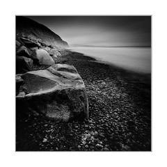 Rocky beach (YFphoto168) Tags: rock torrey pines torreypine state beach reserve california sandiego long exposure 16stopper blackandwhite black white monochrome fineart olympus ocean water pebble
