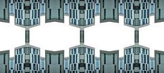Architecture DNA (Ed Sax) Tags: dns dna architektur edsax hamburg muster abstrakt fassade weis grün türkis blau grau kunst desing photokunst kunstphotographie valentinskamp