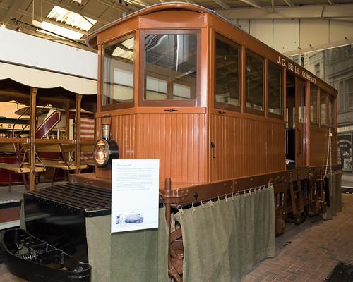 Brussels tram | Snowbroom | 1896 | Crich Tramway Village-45