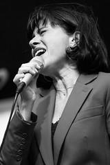 Singing her heart out (MacCabri) Tags: jazz blackandwhite bw monochrome singer singing microphone veronicamortensen cphjazzfestival copenhagen