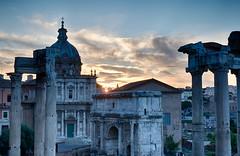 Sunrise at the Roman Forum (hl_1001) Tags: italy italia roma rome church ruins columns column sunrise explored