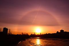 The Sun. (Photolove2017) Tags: photolove2017 sky sunrise sun silhouettes nikondx nikon ottawagatineau interprovincial canada colors chaudier d3100 arc ottawariver