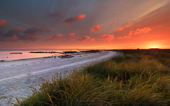 One Summer Evening (Adam West Photography) Tags: adamwest beach beauty clouds dusk family grass hebrides island isles machair maram nature people red sand scotland sea seascape seaweed sky sunset uist western wild wildflowers