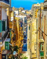 Maltese Street (tubblesnap) Tags: malta tubblesnap fuji xs1 holiday vacation mediterranean valetta balconies street architecture