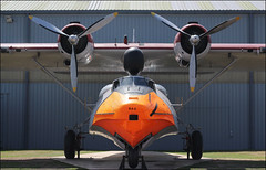 Orange nosed Catalina seaplane, RAF Cosford (alanhitchcock49) Tags: raf museum cosford shropshire july 2017 orange consolidated pby catalina