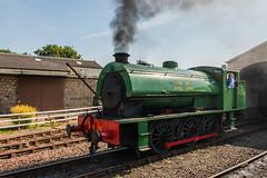 Bo'ness & Kinneil Railway - NCB (060ST) Engine No 9 Emerging 2 (Le Monde1) Tags: boness kinneil lemonde1 nikon d800e museum heritage uk bonesskinneilrailway museumofscottishrailways shunting ncb 060st engine locomotive no9 scotland steam railway