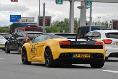 Lamborghini Gallardo LP560-4 Bicolore (D's Carspotting) Tags: lamborghini gallardo lp5604 bicolore france coquelles calais yellow 20140616 lp620hp le mans 2014 lm14 lm2014