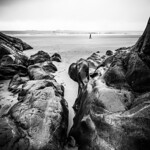 A walk on the beach - Galway, Ireland - Black and white photography thumbnail