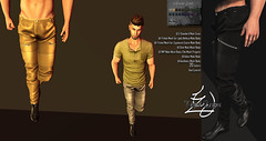 Treized Designs Presentation Amnesia Pants (TreizedDesigns) Tags: standard male fitted mesh jake belleza body gianni slink tmp meshproject adam aesthetic colors 20 hud control demo