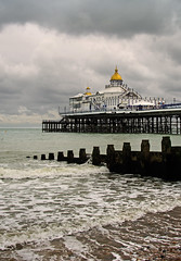 Pier & Clouds (Ken Came) Tags: eastbourne sussex pier sea groyne clouds nikon d7000 kencame