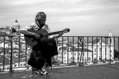 Alfama (joaodematos.photography) Tags: monochrome homem men alfama lisboa portugal film 35mm bw wb guitarra analogico analog streetphotography pictorialist pictorialista pretobranco brancopreto blackandwhite whiteandblack guitar city street