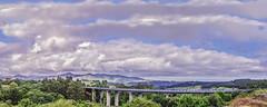 Alto praviano (@pabloralonso) Tags: green blue asturias altopraviano pano panoramica bajonalon nubes cielo clouds sky summer verano pentax ngc landscape paisaje puente bridge 31
