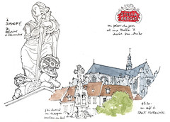 Saint-Florentin, Sormery (gerard michel) Tags: france bourgogne architecture statue sketch croquis