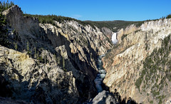 Grand Canyon of Yellowstone National Park (T.M.Peto) Tags: grandcanyonofyellowstone yellowstonenationalpark wyoming yellowstone yellowstoneriver canyon nps waterfall waterfalls gorge rivervalley cliffs rocks rockslides rockledge rocky rockformation forest pines pineforest shadow lightandshadow lightandshade lightanddark river stream water watercourse weatheringanderosion rivererosion geology geography beautiful beautifuldestination travel travelphotography park nationalpark landscape landscapephotography landscapes landscapeshots nikond3300 nikon nikonphotography nikonoutdoors outdoor outdoors outdoorphotography outside getoutdoors getoutside trees tree nature naturephotography godscreation wonderful mist