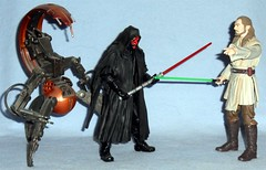 Hasbro - Black Series Episode 1 (Darth Ray) Tags: various hasbro star wars black series 6 inch figures episode 1 darthmaul quigonjinn darth maul quigon jinn qui gon mega action destroyer droid from 2000 megaaction