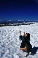 Rain of stars (jorge martins fotos) Tags: snow neve lelahmonteiro viagem estrada road trip travel morena brunette usa wyoming beartooth pass summit