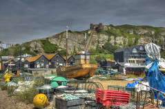 _MG_3608_09_10_Painterly (rvogt0505) Tags: england hastings beach sea ocean boat