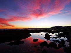 Reflejos en la orilla (Antonio Chacon) Tags: andalucia atardecer marbella málaga mar mediterráneo costadelsol cielo españa spain sunset sol puestadesol paisaje nubes nature naturaleza