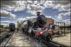 Clouds of Steam (Darwinsgift) Tags: didcot steam centre railway locomotive museum train engine oxfordshire clouds nikkor 19mm f4 pc e tilt shift tiltshift hdr photomatix nikon d810