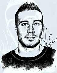 Vinny Guadagnino (Bob Smerecki) Tags: smackman snapnpiks robert bob smerecki sports art digital artwork paintings illustrations graphics oils pastels pencil sketchings drawings virtual painter 6 watercolors smart photo editor colorization akvis sketch drawing concept designs gmx photopainter 28 draw hollywood walk fame high contrast images movie stars signatures autographs portraits people celebrities vintage today metamorphasis 002 abstract melting canvas baseball cards picture collage jixipix fauvism infrared photography colors