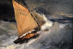 Museum at Pont d'Aven (JGHill) Tags: pontdaven painters museum art sailboat ship sea ocean storm waves bretagne brittany france