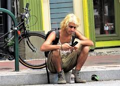 Artscape, 2017 (A CASUAL PHOTGRAPHER) Tags: festivals artscape portraits men blondes baltimore maryland canonpowershotsx50hs bridgecamera charlesnorth flipphones cellphone bicycles noserings