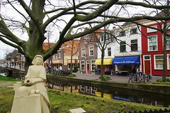 Delft, Hollande, 04/2017 (jlfaurie) Tags: delft hollande holland holanda mechas jlfaurie jlfr 042017 gladys michel canaux canales shopping bleu azul