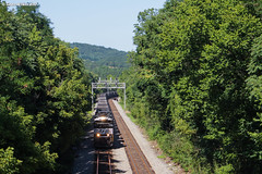 In the Groove (nrvtrains) Tags: greenhill trees empty coal signals 821 norfolksouthern elliston virginia unitedstates us