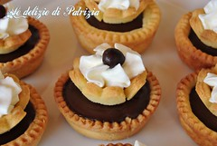 Crostatine con ganache al cioccolato (Le delizie di Patrizia) Tags: crostatine con ganache al cioccolato le delizie di patrizia ricette dolci pasticceria secca