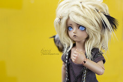 Isi, the imaginary friend (tjassi) Tags: abjd bjd asian ball jointed doll dolls toys teenie gem soom afi tan tannned isi deer feather