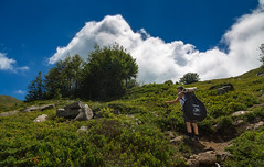 New adventure begin! (Alessandro Iaquinta) Tags: adventure eos canon landscape nature friends italy italia 5d dslr avventura colours green blue sky summer estate pic amici trekking tenda tent 2017 appennino montagna fullframe