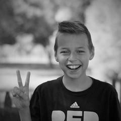 Dan (michael.veltman) Tags: dan peace project sign portrait