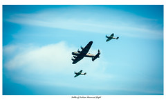 Battle of Britain Memorial Flight (Wil Wardle) Tags: wilwardle photography canon 5dmk2 f4 canonef70200mm adobelightroom ebphoto britain britishphotographer england aircraft worldwar2 war lancasterbomber hurricane spitfire eastbourne eastsussex airbourne