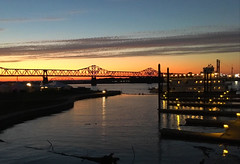 """Sometimes you've got to bleed to know, / That you're alive and have a soul"" ―TWENTY ØNE PILØTS 🌅 🌉 💦 (anokarina) Tags: appleiphonese sunset clouds waterfrontpark bridge river louisville kentucky ky ohioriver johnfkennedymemorialbridge evening centralbusinessdistrict instagram nofilter"