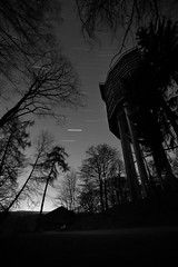 Star Trails (lja_photo) Tags: stars star trails natural night nature forest woods trees travel tourism landscape light long landmark landscapes longexposure europe exploration exposure black blackandwhite bw bnw blackandwhitephoto building white monochrome monotone monoart moody architecture architectural photography evening dramatic shadows saarschleife germany