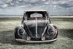 Low, Slow and Crusty (DL_) Tags: vintage classic slammed volkswagen vw beetle bug dub beach olympusomdem5mkii
