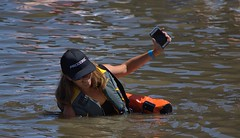 Sinking (swong95765) Tags: woman water river sink device floatation lifevest oops stability