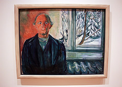 Self-Portrait by the Window, by Edvard Munch (JB by the Sea) Tags: sanfrancisco california july2017 urban financialdistrict sanfranciscomuseumofmodernart sfmoma painting edvardmunch expressionist expressionism