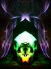 Purple & Green Skull (jgesq) Tags: lightpainting lightbrushtools lightpaintingbrushes lightblading lightblade godlight skull symmetry strange abstract stilllife
