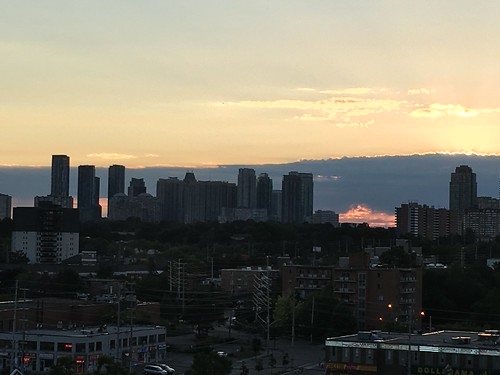 Mississauga skyline at sunset