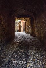Quiet afternnon in Malcesine, Lake Garda (HelenC2008) Tags: alley alleyway malcesine garda lakegarda italy cobblestone nikon d810