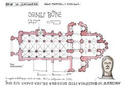 Brive la Gaillarde (gerard michel) Tags: france limousin brive cathédrale plan sketch croquis