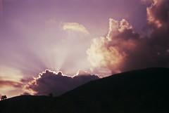 (xbacksteinx) Tags: nikonf3 hp 35mm analog slr nikon50mmseriesef18 50mm slidefilm expired fujiprovia100 autumn germany clouds sunset light rays mood moody grain grainy