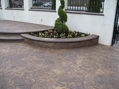 Stamped Concrete Patio (cdisabatino) Tags: hardscaping landscaping disabatino patio concrete retainingwall