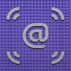 Text Experiment - @ Symbol (powerpig) Tags: lego text