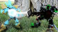 Ekimu vs Umarak (WarriorofOm) Tags: bionicle lego warriorofom