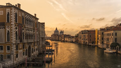 A Grand Canal morning (BAN - photography) Tags: santamariadellasalute grandcanal water domes hotels column boats reflection clouds sunrise daybreak d810 pylons jetties windows arches venice
