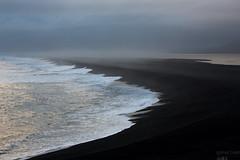 Dusk (Sophie Carr Photography) Tags: dusk blacksand beach hvalnes iceland southeasticeland sunset waves shore lagoon