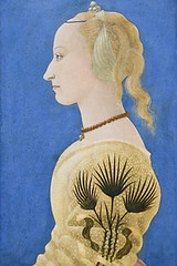 Portrait Of A Lady By Baldovinetti (meg21210) Tags: alessobaldovinetti baldovinetti italian painting art tempera profile portrait yellow blue renaissance earlyrenaissance c1465 london england nationalgallery uk greatbritain